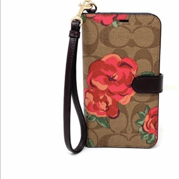 new arrival 7d54f 06174 🔥LAST ONE🔥 COACH CANVAS IPHONE FOLIO CASE, XR NWT